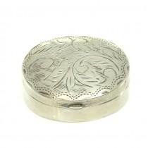 Cutiuță din argint pentru pastile | Marea Britanie
