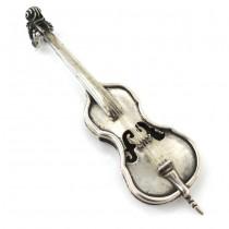 Miniatură din argint minuțios elaborată sub forma unui violoncel