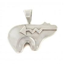 Amuletă amerindiană din argint | Spirit Bear | atelier Carlton Gamon | Statele Unite