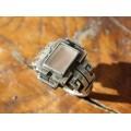 Inedit inel mexican Azteca Revival | manufactură în argint & agat alb translucid
