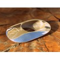 Broșă modernistă mexicană cu inedit design retrofuturist | manufactură în argint