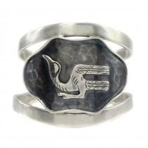 Impresionantă brățară modernistă peruviană | Chankay Bird | manufactură în argint | cca.1950 -1960
