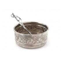 Rafinată garnitură din argint pentru servirea caviarului | Italia post-1969