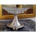 Rafinat centru de masă Wiener Secession | argint & sticlă gravată | atelier Ferber Dorothea - Viena | cca.1906
