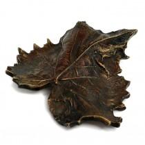 Presse-papier din bronz sculptat sub forma unei frunze de toamnă | Art Nouveau | Franța