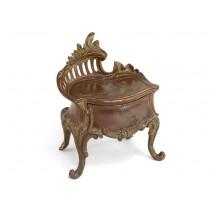 Casetă de bijuterii Art Nouveau | spelter cuprat | Franța | cca 1880