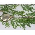 Splendidă linguriță din argint pentru copii | gravură manuală și accente vermeil | Franța cca. 1870