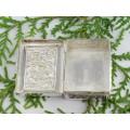 Cutiuță din argint pentru medicamente și tutun de prizat    Yogya    manufactură    Indonezia cca 1940