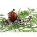 Miniatură din argint Caleașca Cenușăresei | coral Porifera natural | Italia