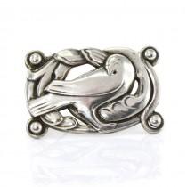 Broșă statement elaborată în stil Art Nouveau scandinav | Norseland | atelier Cohn & Rosenberger | Statele Unite cca.1940