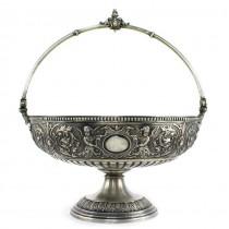 Splendidă fructieră din argint | centru de masâ în stil renascentist italian | cca.1880