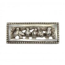 Delicată broșă Art Nouveau din argint | Turturele | manufactură de atelier francez | cca.1900