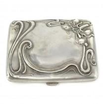 Tabacheră Art Nouveau din argint   manufactură de atelier german   cca 1900