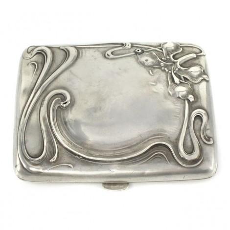 Tabacheră Art Nouveau din argint | manufactură de atelier german | cca 1900