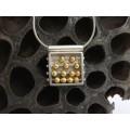 Colier accesorizat cu un inedit pandant modernist mid-century | Abacus | manufactură în argint | studio Kimler-Daniel | cca. 1960 Statele Unite