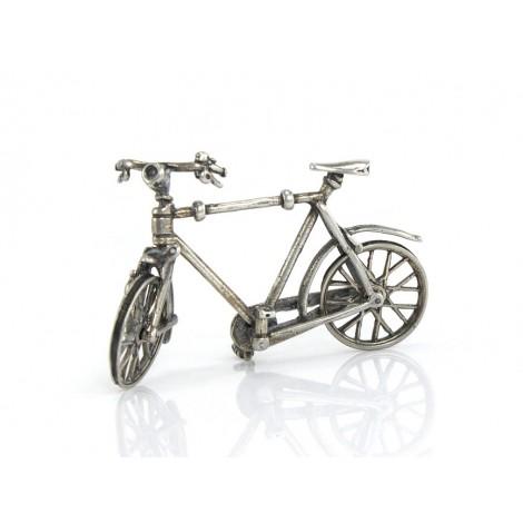 Miniatură bicicleta din argint | manufactură de atelier italian