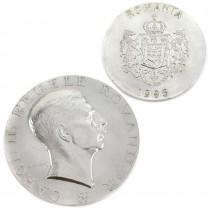 Medalie masonică din argint Carol II Regele României 1998 | 60 de ani de la instaurarea Dictaturii regale