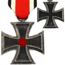 Decorație Crucea de Fier EKII | argint, originală | model 1939 | Germania Nazistă cca. 1939 -1945
