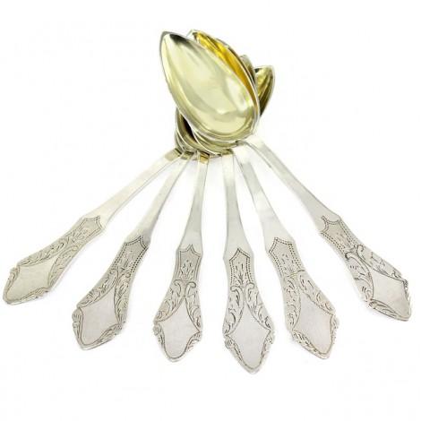 Servicu de 6 lingurițe din argint | manufactură de atelier românesc | 1926 -1937