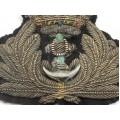 Veche emblemă pentru caschetă Marina Militară Britanică WW I - WW II   subofițer British Royal Navy
