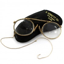 Ochelari pince nez Fits-U laminați cu aur galben | brevet  Jules Cottet | cca.1900 Franța