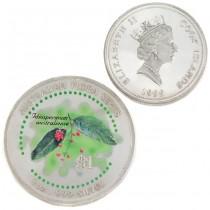 Monedă din argint 1 dolar Cook Islands 1999 | Australian Flora Series | argint 999