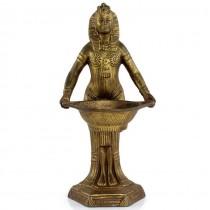 Veche statuetă - aromatizator splendid elaborat în stil Egyptian Revival | atelier Vantines | cca 1920 | Franța