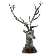Impresionant sfeșnic din bronz argintat elaborat sub forma unui trofeu de cerb | atribuit colecției Maison Christian Dior | cca.1970