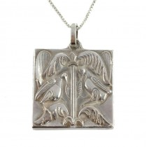 Colier din argint cu pandant romantic | Triumful Iubrii | Italia | post-1969