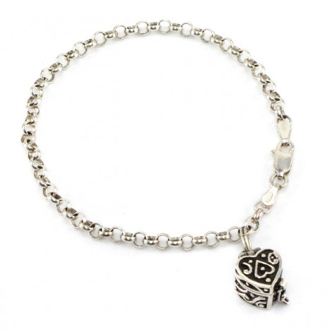 Brățară din argint accesorizată cu un charm inimioară locket | atelier Int.  Bullion & Metal Brokers | Statele Unite