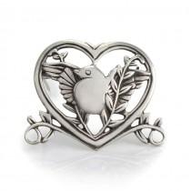 Rafinată broșă romantică din argint | stil de inspirație victoriană | Statele Unite