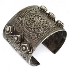 Veche brățară etnică iudeo-berberă | manufactură în argint | secol XIX  cca, 1860 -1870 |Tunisia