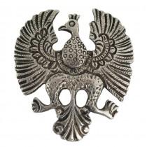 Veche broșă - amuletă amerindiană | Thunderbird | argint 950 | Peru cca. 1940
