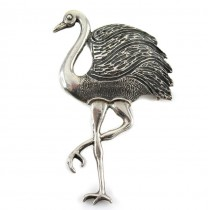 Broșă statement modernistă stilizată sub forma unui struț | argint 925 | Australia cca.1970