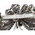 Delicată brosă vintage din argint stilizată sub forma unui fluture | manufactură | Italia anii '70
