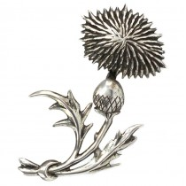 Broșă vintage modernistă din argint stilizată sub forma unei flori Armurariu   atelier Lang   Statele Unite cca. 1950 -1960
