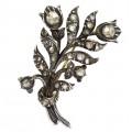 Broșă victoriană din aur decorată cu diamante naturale 0.70 CT montate în argint | cca. 1890 Olanda