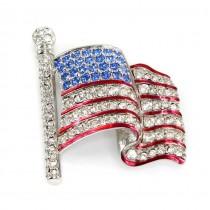 Broșă autentică Swarovski American Flag | Statele Unite anii '90
