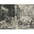 "ℹ️ Gravură ""Il Morbetto"" – autor Marcantonio Raimondi, Italia, cca. 1515 – 1516"