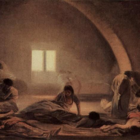 """ℹ️ """"Spitalul ciumei"""" – pictură, ulei pe pânză – Francisco Goya, cca. 1798-1800"""