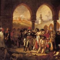 """ℹ️ """"Bonaparte vizitând bolnavii de ciumă în Jaffa"""" – ulei pe pânză, Antoine-Jean Gros, 1804"""