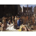 """ℹ️ """"Ciuma într-un oraș antic"""" – ulei pe pânză, autor Michael Sweerts, cca. 1652 – 1654"""