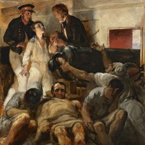 """ℹ️ Horace Vernet – """"Studiu pentru holera de la bordul Melpomenei"""", ulei pe pânză"""