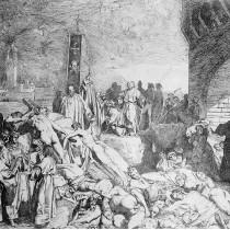 """#pandemiadecultura ℹ️ Gravură """"Ciuma din Florența în 1348"""" – autor Luigi Sabatelli"""