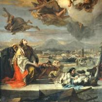 """#pandemiadecultura ℹ Pictură """"Sf. Tecla eliberând orașul Este de ciumă"""", autor Giambattista Tiepolo, ulei pe pânză, 1759"""