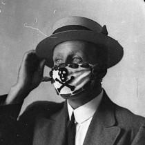 #pandemiadecultura ℹ Măști de protecție ornamentate | pandemie de gripă Australia, cca. 1918