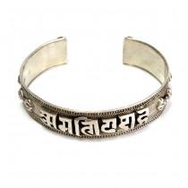 Veche brățară tibetană din argint  | OM MANI PADME HUM | Nepal  cca. 1970