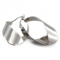 Cercei hoop cu inedit design contemporan | argint 925 | Thailanda