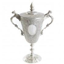 Monumentală cupă - trofeu din argint masiv | atelier James Dixon & Sons | Sheffield 1902
