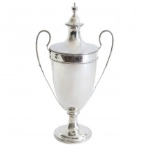 Trofeu din argint sterling elegant elaborat sub forma unei cupe în stil Adam | atelier Alexander Clark | Marea Britanie, anul 1910